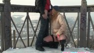 Free online porn in public Blonde wife warms strangers cock in the snow