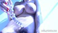 Free xxx country artists clip Ariella ferrera glass dildo blue light artistic play
