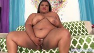 Female lingerie models - Chubby black girl uses sex toys