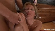 Sexy mature grannys - Sexy blonde granny takes a black cock in her ass