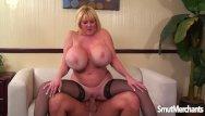 Giant tit mature women tube Giant boobed mature woman fucks and eats cum