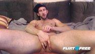 Gay pornstar 4 play Bro plays tug of war with his uncut cock