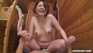 Dick slamming pussy deep Slamming the bitch deep in her pussy in the sauna