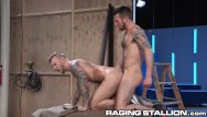 Ass gay hairy pic play Ragingstallion hairy hunk backstage ass play