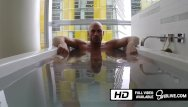 Gay big dick play Johnny sins playing with his huge dick in the bathtub