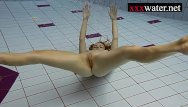 Large breasts swimming pool - Sexy hot girl swimming in the pool