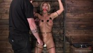 Girl trapped in bondage devices Muscle goddess bound and tormented