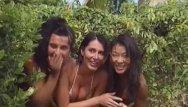 Erika bella and pornstar Erika bella, busty redheaded fucking in a tropical beach
