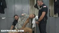 Gay video cops Gay patrol - aggressive cops take down fake soldier and lay down the law