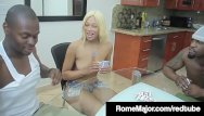 Destiny dicks Ebony babe destiny dream gets 2 big black cocks their cum