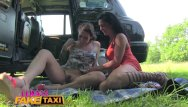 Very bushy pussy - Female fake taxi sweaty hot lesbian bushy pussies finger fucked to orgasm