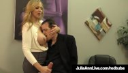 Adult award family film guy Adult award winner julia ann drains a cock with hot handjob