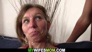 My wife left to go fuck her black boyfriend - She watches her boyfriend fucks old mom