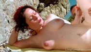 Nice big tit porn - Ginger with nice tits get fucked at beach