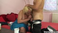 Spread old pussy - Blonde spreads her hairy old pussy for him