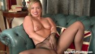 Crotch naked shot - Cheeky blonde olga cabaeva rips crotch off sheer nylon pantyhose toys dildo