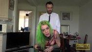 Tattooed sluts Tattooed slut with green hair gets her sweet ass slammed