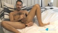 Free gay male sex photo - Flirt4free antonio west - bearded hunk fucks his ass and cums on hairy abs