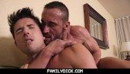 Gay family Familydick - angry drunk muscle stepdad barebacks his pretty boy son
