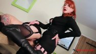 Red tube new lesbian time Red spanks the hell out of her new slaves ass