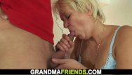 Granny fuckers 2 - Cleaning granny gets her pussy filled with 2 cocks