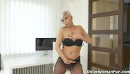 Japanese office woman in pantyhose - Euro milf kathy white gives her pantyhosed pussy a treat
