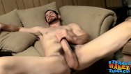 The strokes are gay Hairy jock wanking and stroking his thick hard dick solo