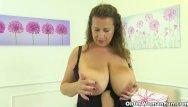 What sexual position is an italian hanger Uk milf sabrina jade will please you with her big hangers