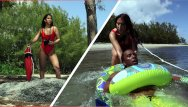 Kristen nude lifeguard Bangbros - latina lifeguard valerie kay rescues a big black cock