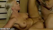 Sexy construction Big tit blonde milf fucking in construction warehouse