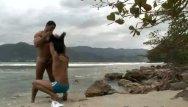 Hot brazilian beach boys gay Hunk fucks horny latino beside the beach