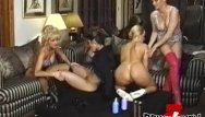 Lesbian group sxe - Vintage dykes group stretching their asses with many toys