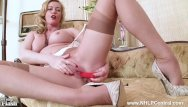 Pussy nylon Blonde milf holly kiss strips off retro lingerie fucks juicy pussy in nylon