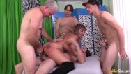 Horney wives gangbanged by 50 guys Mature tart skyler haven uses all three holes to please four horny guys