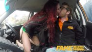 Porn gearstick Fake driving school crazy hot redhead fucks car gearstick after lesson