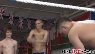 Gay handsome men nude - Handsome young men testing their brawn in the ring