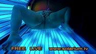 Facial solarium uk Bbw fat girl masturbation on public solarium hidden spy cam