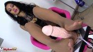 Tan stockings milf - Tan stockings footjob by hot mistress alexya
