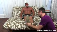 Paternal age gay son homosexual - Buffed hunk receives feet worshiping for a homosexual freak