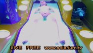 Tv porn tube - Solarium cam blonde teen fingers herself, public tanning salon reallifecam