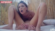 Oral pool sex Lesbian girls have sex by the pool