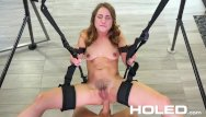 Sex swing stand Holed anal sex swing gets the job done