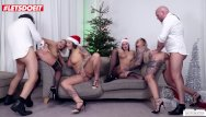 Angelina jolee pussy - Christmas orgy w/ german hotties mia blow, jolee love wild vicky pt.2