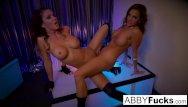 Quick strip wire strippers Abigail mac strips then fucks her stripper friend