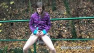 Girls nude in the forest - Cute girls expose peeing pussies and take a leak near the forest