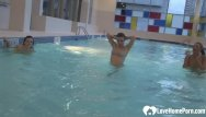 Erin esurance flash porn The swimming pool is the best for flashing
