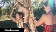 Aria giovanni interracial Femdom jelena jensen ties aria giovanni to a tree