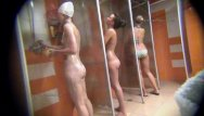Naked hot girls in shower - We hide camera to spy on naked girls