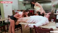 Vintage inns restaurants Letsdoeit - karlee grey makes it rain over ginas face in a restaurant