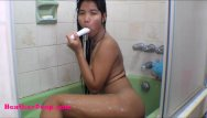 Anal squrits Hd heather deep dildo anal squrit in bathtub